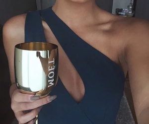 dress, champagne, and moet image