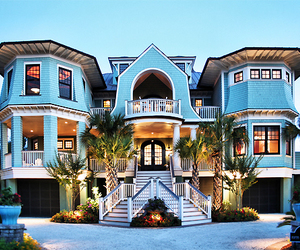 house, luxury, and blue image