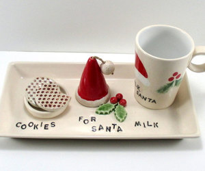 christmas, cookie plate, and etsy image