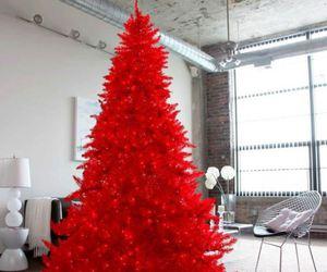 christmas tree, christmas, and red image