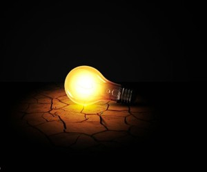 bulb, creative, and lamp image