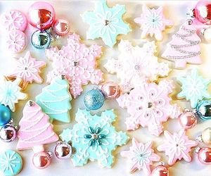 christmas, Cookies, and pink image