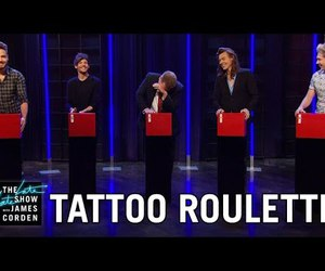direction, tatto, and talk show image