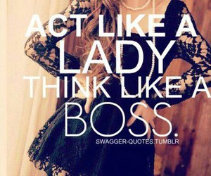 boss, lady, and quote image