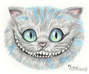 art, blue, and cat eye image