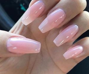 pink and nails. image