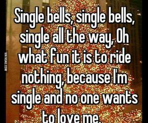 single, christmas, and love image