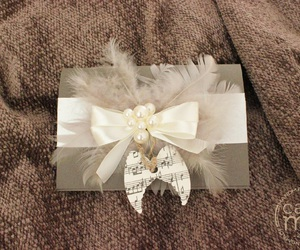 angel, bow, and card image