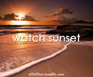 sunset, beach, and lovely image