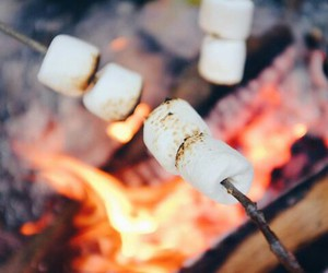 fire, food, and sweet image
