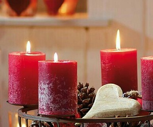 candles, light, and red image