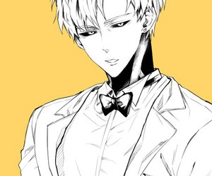 genos, one punch man, and anime image
