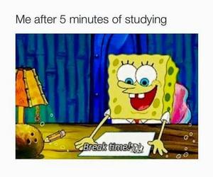 funny, spongebob, and school image