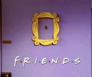 friends tv show, friends, and monica's door image