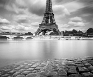 france, paris, and b&w image