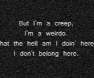 black and white, weirdo, and creep image