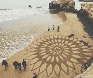 beach, art, and sand image