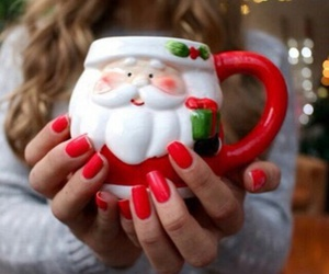 christmas, santa, and cup image