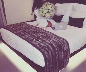 flowers, bed, and luxury image