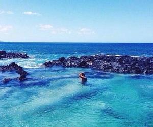 girl, beach, and ocean image