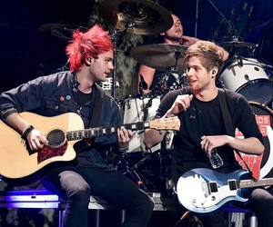 luke hemmings, michael clifford, and 5sos image
