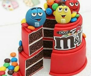 cake, food, and m&m image