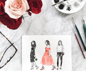 fashion, drawing, and dress image