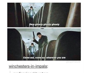 dean winchester, funny, and ghost image