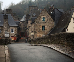 house, street, and village image