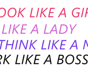 boss, lady, and girl image