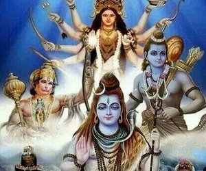 Durga, hanuman, and shiv image