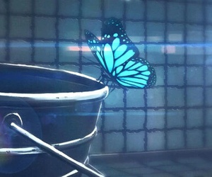 life is strange, blue, and butterfly image
