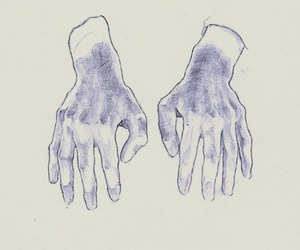 hands, art, and pale image