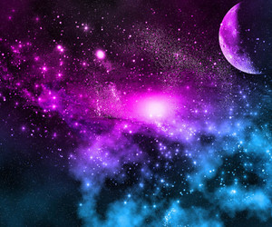 blue, galaxy, and pink image