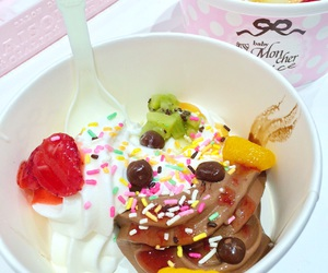 ice cream, strawberry, and sweets image