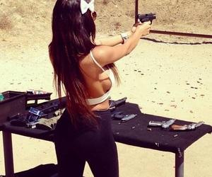 girl, gun, and nabilla image