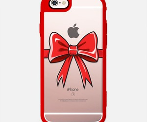 apple, bow, and christmas image