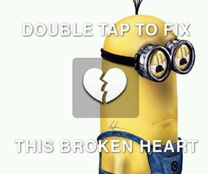 minions, heart, and broken image