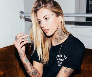 blonde, hair, and ink image