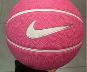 nike, pink, and Basketball image