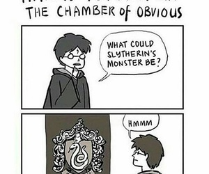 harry potter, chamber of secrets, and slytherin image