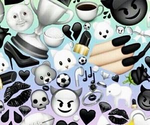 black, emoji, and emojis image