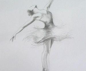 ballerina, black, and drawings image