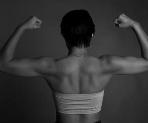 arms, blackandwhite, and fit image