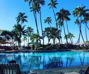 beach, hawaii, and hilton image