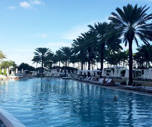 beach, fontainebleau, and Miami image