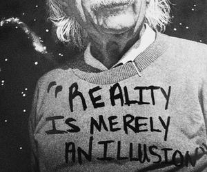 reality, einstein, and quotes image