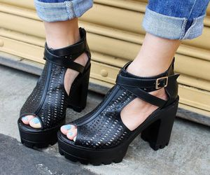 cute shoes, platforms, and wedges image