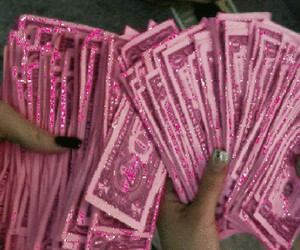 money, pink, and grunge image