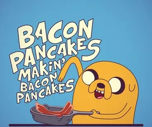 adventure time, JAKe, and bacon image